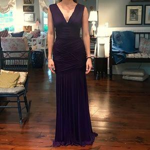 Halston Heritage Royal Purple Gown